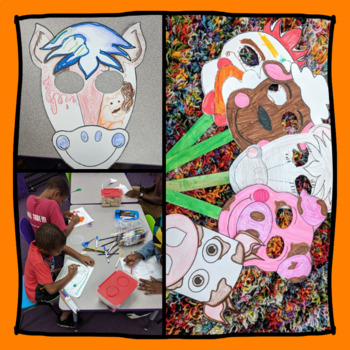 Farm Animal Masks & Coloring Pages Pack (Pig, Chicken, Cow, Sheep, Horse)