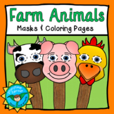 Farm Animal Masks & Coloring Pages Pack (Pig, Chicken, Cow