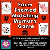 Farm Animal Matching Memory Game