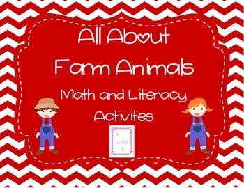 Farm Animal Math and Literacy Activities