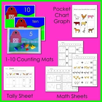 Farm Animal Math and Literacy Fun