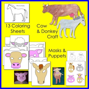 Farm Animal Math and Literacy Fun - DISTANCE LEARNING and CLASSROOM