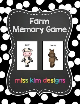 Farm Animal Memory Game