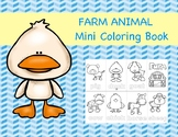 Farm Animal Mini Coloring Book