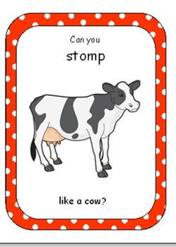 Farm Animal Movement Cards