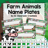Farm Animal Name Plates (Editable) - Classroom Decor