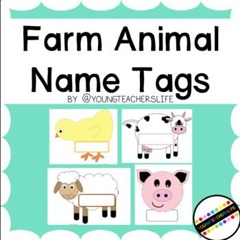 Farm Animal Name Tags