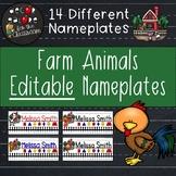 Nameplates EDITABLE - Farm Animal Decor