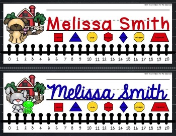 Nameplates EDITABLE - Farm Animal Decor