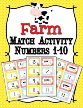 Farm Animal Number Match