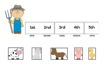 Farm Animal Ordinal Numbers