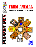 Farm Animal Paper Bag Puppets