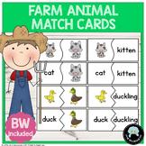 Farm Animal Parent & Baby Match Cards