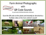 Farm Animal Pictures and Sounds with QR Codes, Active List