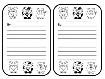 Farm Animal - Poem or Story Outline with images - Many uses