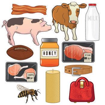 Farm Animal Products Clip Art
