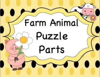 Farm Animal Puzzle Parts
