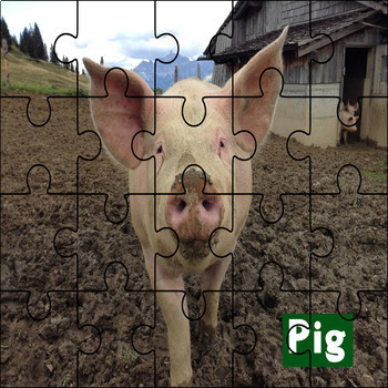 Farm Animal Puzzle Printables
