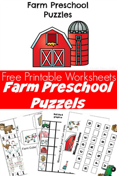 Farm Animal Puzzles Preschool Worksheets Printable