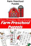 Farm Animal Puzzles Preschool Worksheets Printable