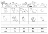 Farm Animal Race- Ordinal number cut and paste