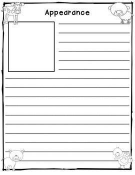 Farm Animals: Tiered Report Writing Templates
