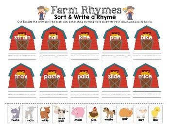 Farm Animal Rhymes