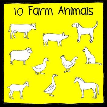 Farm Animal Scissor, Trace, and Stamp - An Animal Literacy Center