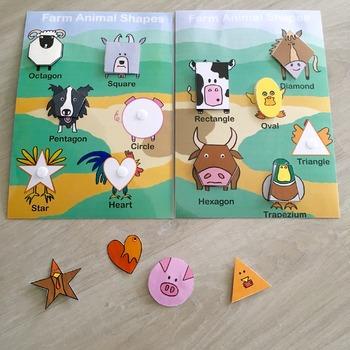 Farm Animal Shape Match