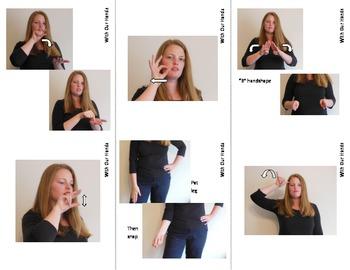 Farm Animal Sign Language (ASL) Flash Cards with Descriptions