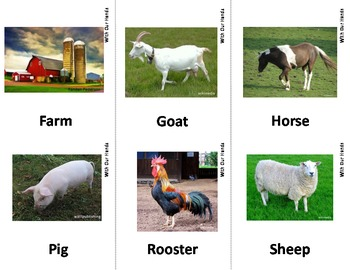 Farm Animal Sign Language Asl Flash Cards With Descriptions By