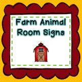 Farm Animal Signs for a Farm Classroom