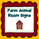 Farm Animal Signs for a Farm Classroom