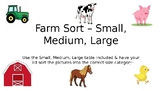 Farm Animal Size Sorting Chart - Small, Medium, Large