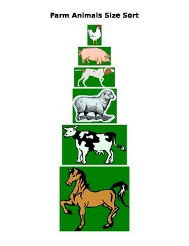 Farm Animal Size sort