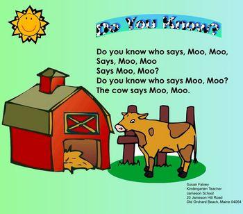 Farm Animal Smartboard Fun for kindergarten