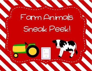 Farm Animal *Sneak Peek Freebie!*
