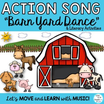 """Song:""""Come On Down to the Barnyard"""" Farm Literacy Activities, Video, Mp3 Tracks"""