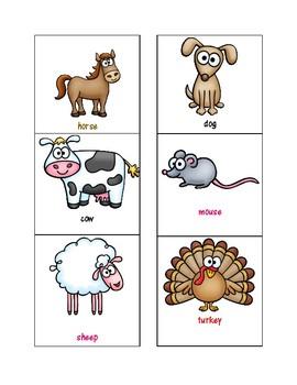 Farm Animal Sorting Activity