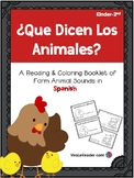 Farm Animal Sounds Booklet in Spanish/Libreta: ¿Qué Dicen