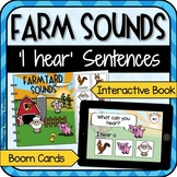 Farm Animal Sounds: 'I hear' activities for speech therapy