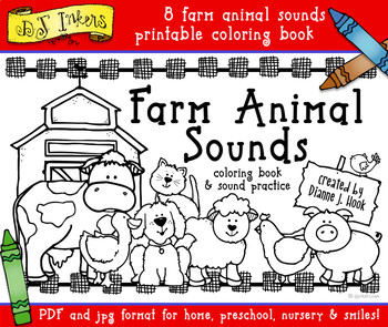 Farm Animal Sounds Printable Coloring Book Download
