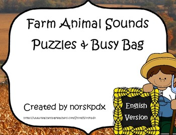 Farm Animal Sounds Puzzles & Busy Bag