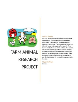 Farm Animal Student Presentation