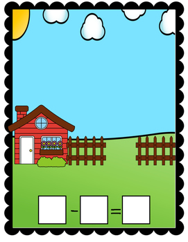 Farm Animal Subtraction Mat