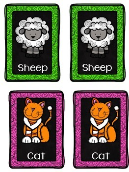 Farm Animal Themed Cards
