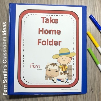 Student Binder Covers - Farm Friends and Farm Animals Student Work Folder Cover