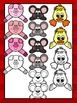 Farm Animal Toppers Clipart- Farm Faces- Commercial & Pers