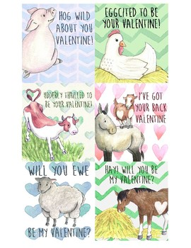 Farm Animal Valentines