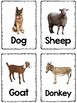 Farm Animal Vocabulary Flashcards